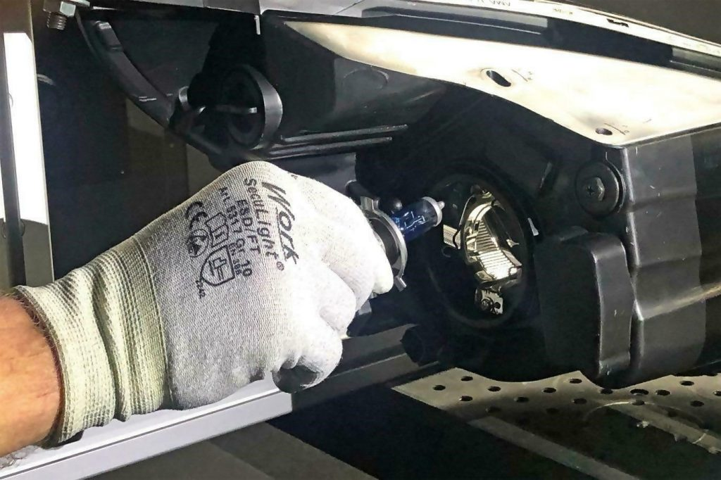 Installing a headlight bulb