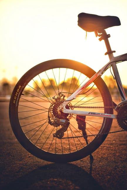 Bike in sunset