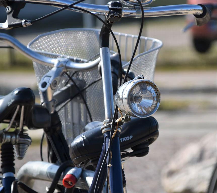 Bike with headlights