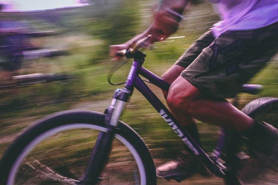 Speeding on a bike